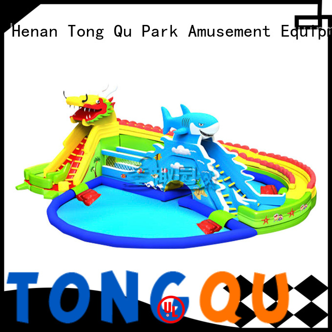 Tongtoy water-proof large inflatable water slide company for swimming pool