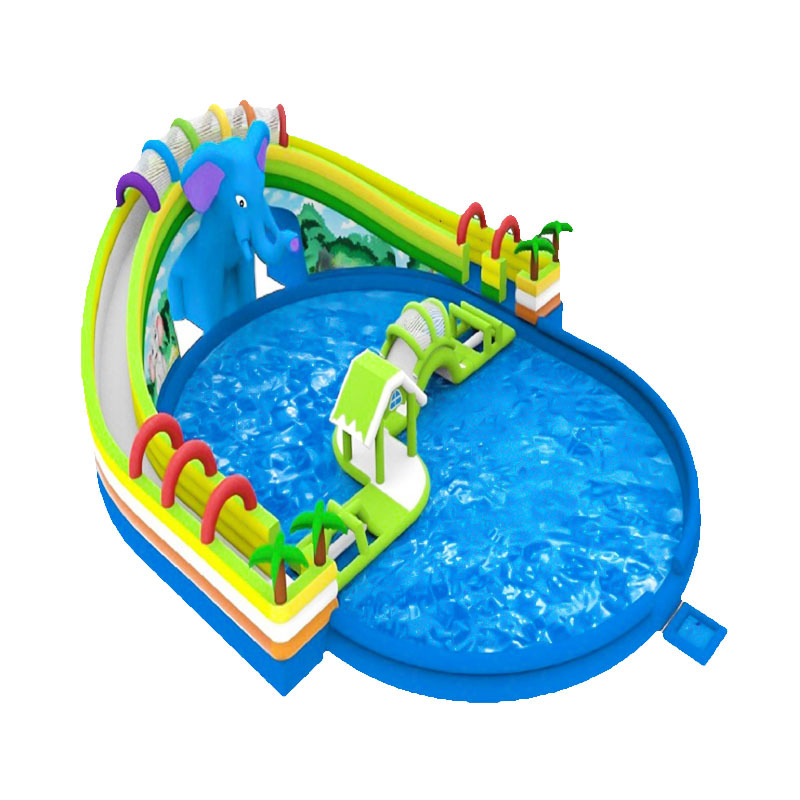 2020 high quality inflatable water slides with swimming pool for kids and adults