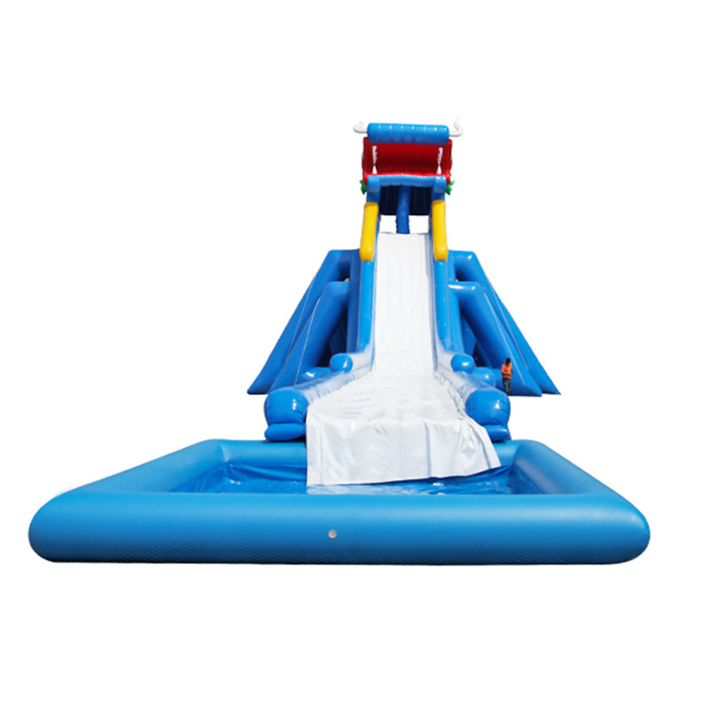 2020 Commercial high quality inflatable slip n slide with pool