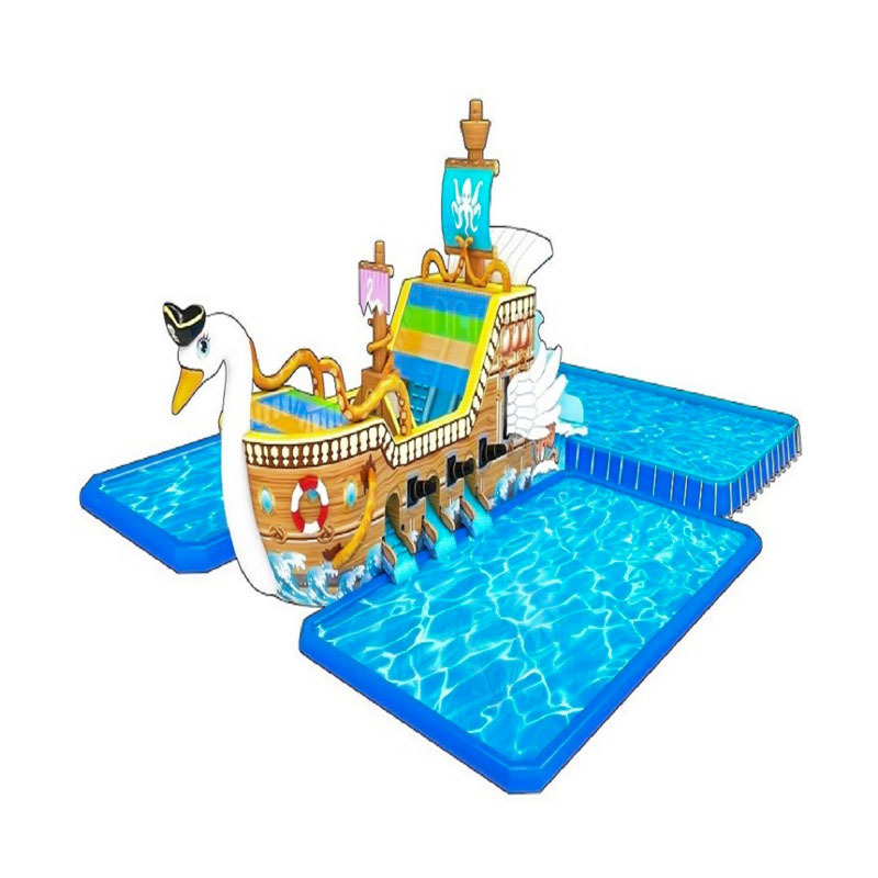 high quality inflatable water bouncer castle with giant mini slides and swimming pools