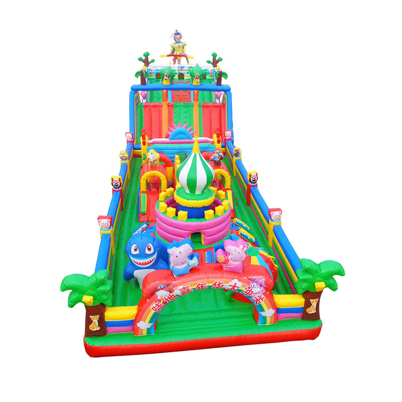 kids outdoor giant commercial inflatable bouncy obstacle course for sale