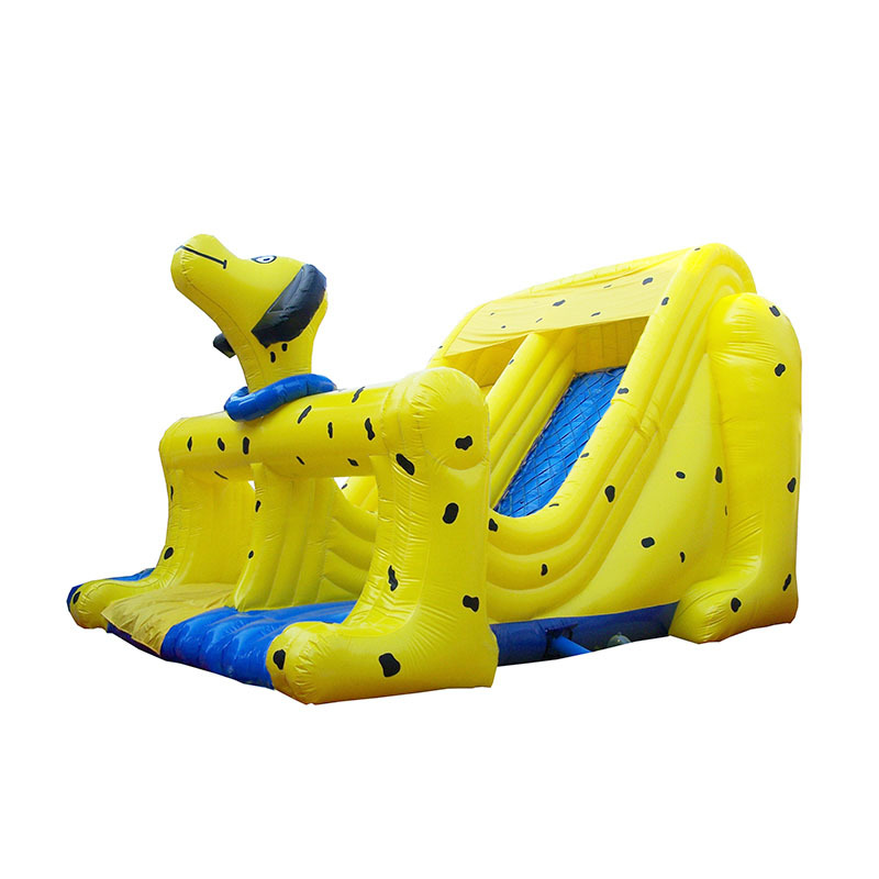 2020 Hot sale  new trend large movable cartoon dog inflatable jumping slide