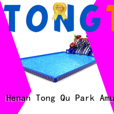 Tongtoy inflatable water slide reputable manufacturer for swimming pool