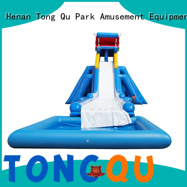 Tongtoy backyard water slides for adults factory for swimming pool