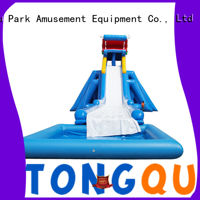 Tongtoy inflatable water slide reputable manufacturer for water park
