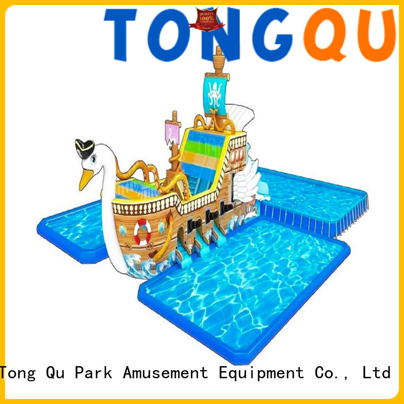 Tongtoy fire-resistant biggest inflatable water slide factory price