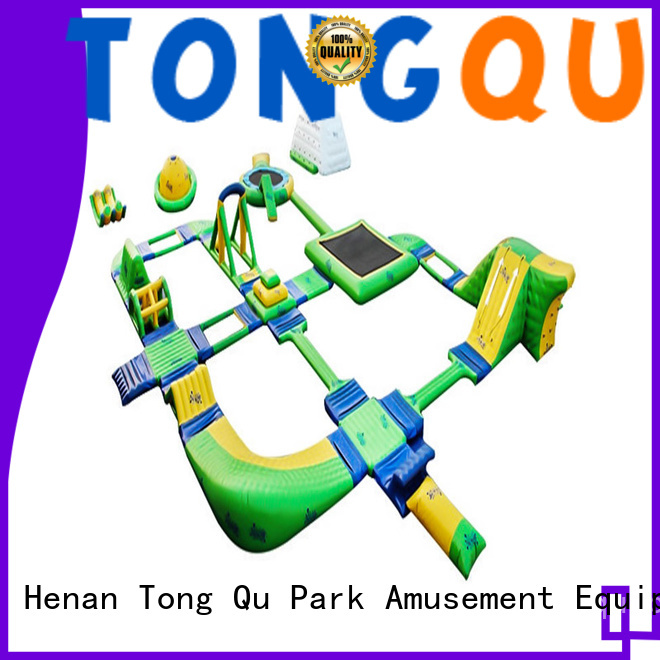 Tongtoy Custom jump island inflatable water park from China for playground
