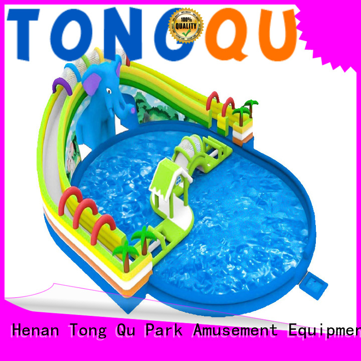 Tongtoy fire-resistant water slide bounce house factory price
