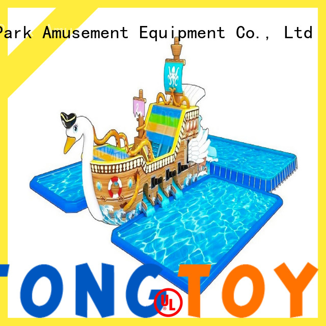 Tongtoy big blow up slide Supply for swimming pool