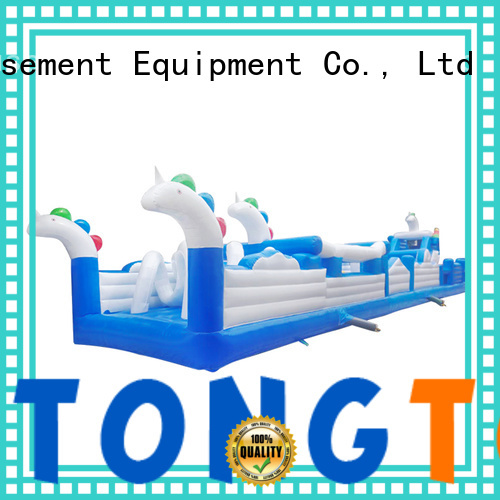 Tongtoy professional obstacle course bounce house inquire now for amusement park