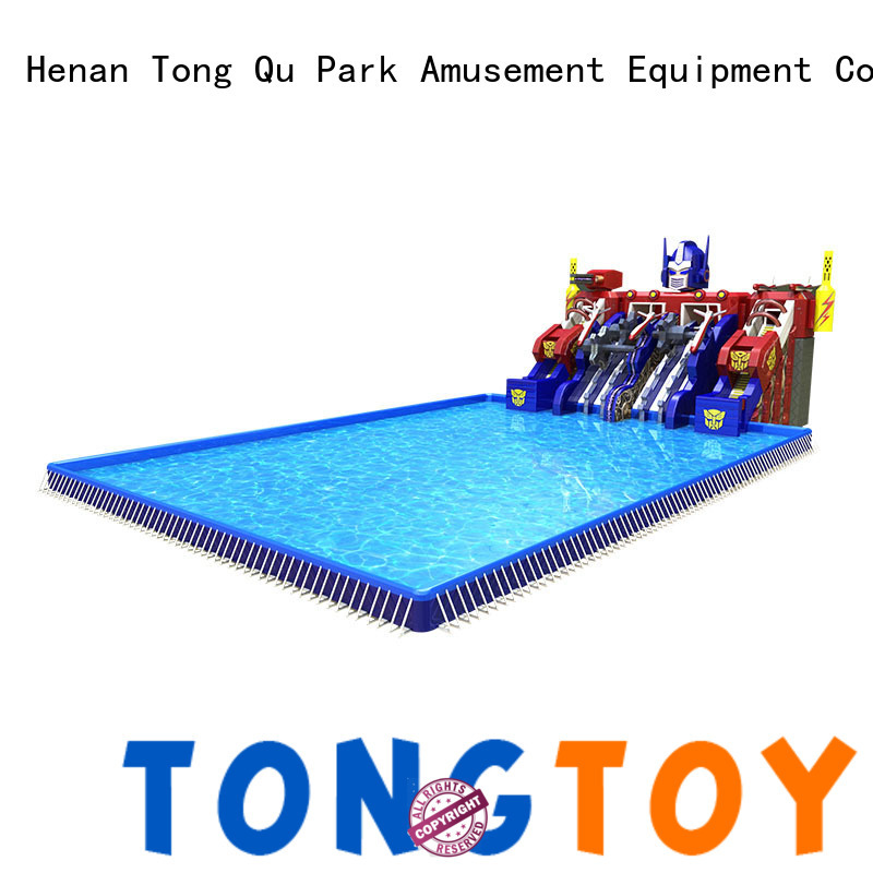 Tongtoy giant blow up slip and slide factory for water park
