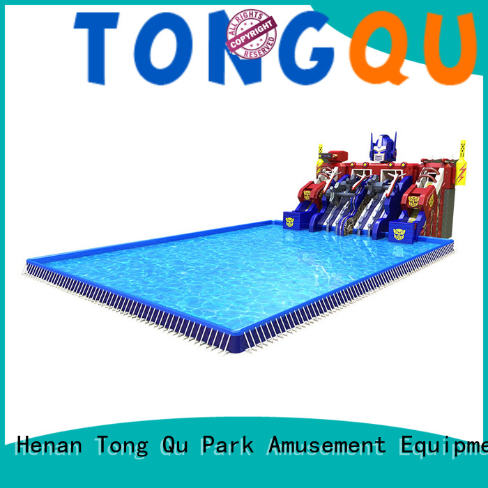 Tongtoy fire-resistant water slide bounce house reputable manufacturer for swimming pool