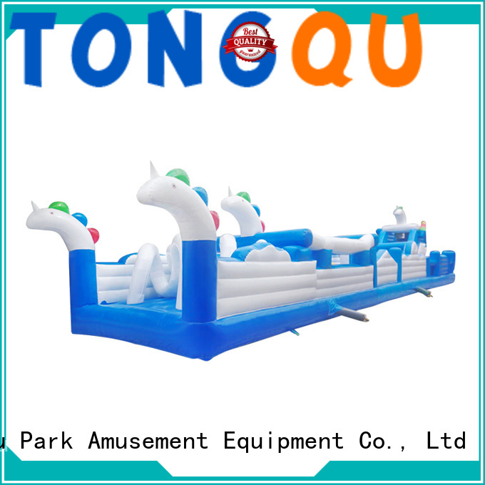 Tongtoy professional obstacle course bounce house customized for adult