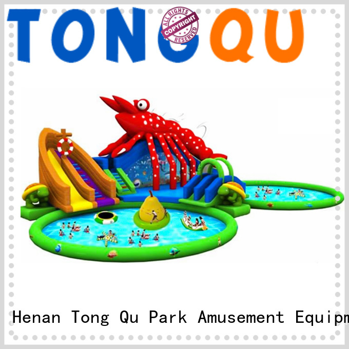 Tongtoy customized water slide bounce house order now for swimming pool