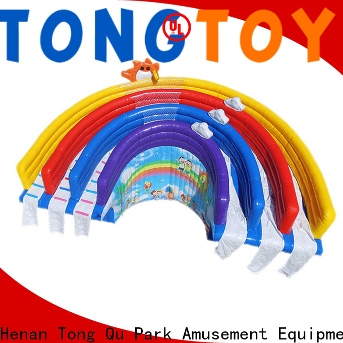 Tongtoy fire-resistant inflatable water slide with slip and slide Suppliers for swimming pool