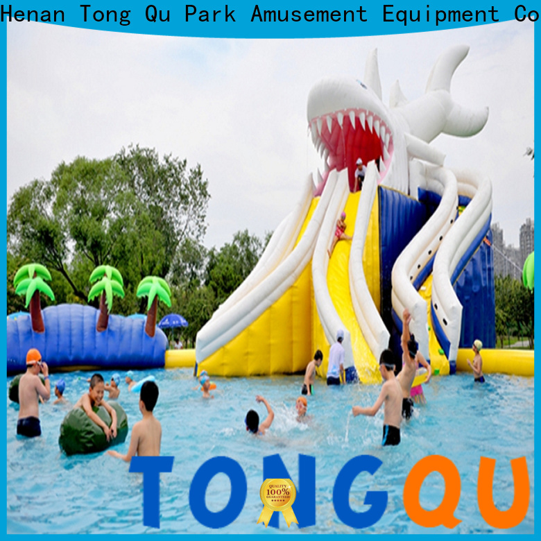 Tongtoy fire-resistant small inflatable slide company for water park