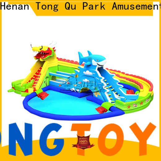 Tongtoy inflatable wet slide factory for water park