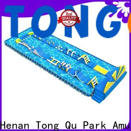 Tongtoy obstacle course water slide manufacturers for adult