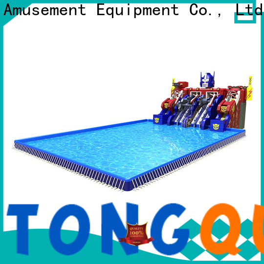 Latest inflatable water slides for adults order now for swimming pool