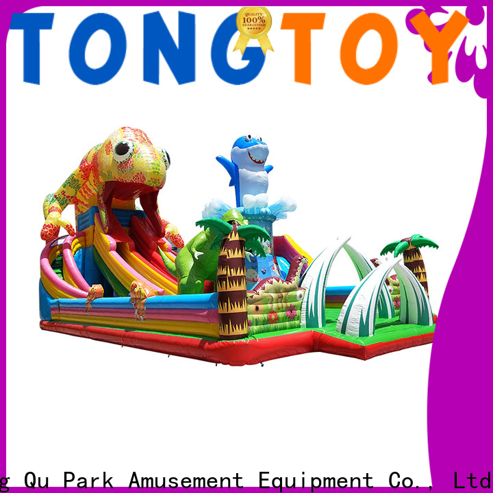 Tongtoy colorful commercial blow up water slides inquire now for kids