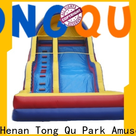 Tongtoy jump house water slide reputable manufacturer for water park