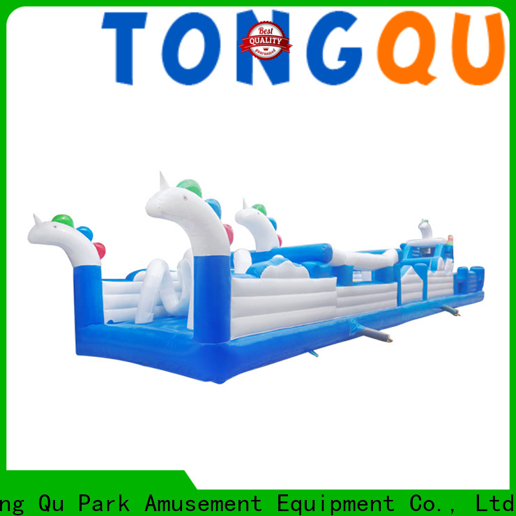 PVC obstacle course water slide customized for amusement park