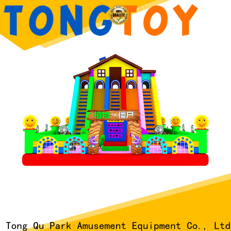 Tongtoy commercial wet and dry inflatable slide factory price for indoor
