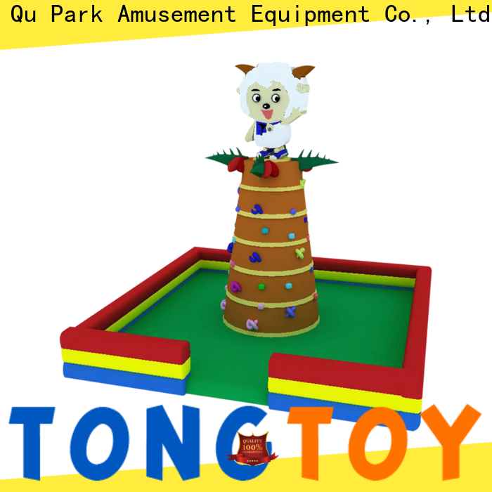 Tongtoy commercial inflatable climbing wall order now for carnivals