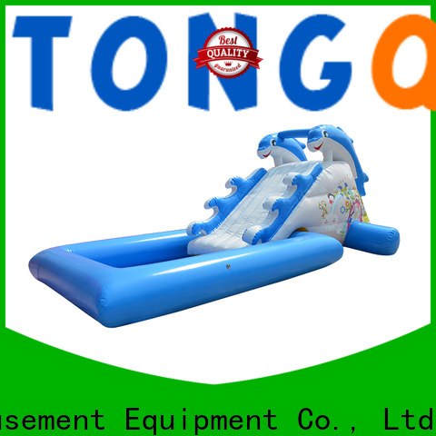 fire-resistant bouncy water slide factory price for swimming pool