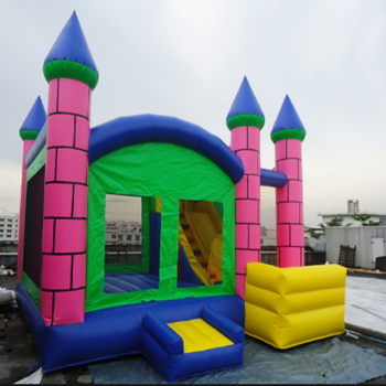 Fun big combo moon party kid air commercial moonwalk jump bouncy jumper castle inflatable bouncer bounce house with water slide