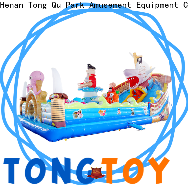 Tongtoy fire-resistant blow up jumping castle wholesale for adult