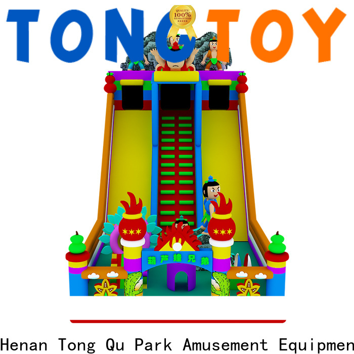 Tongtoy colorful inflatable bounce slide factory price for outdoor