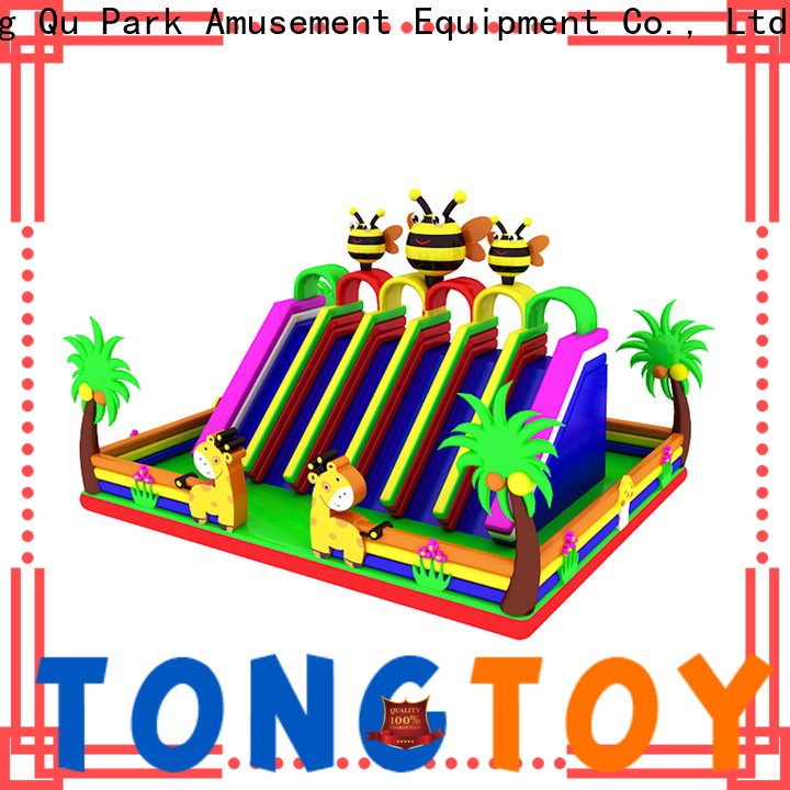 Tongtoy inflatable bounce house with slide from China for outdoor