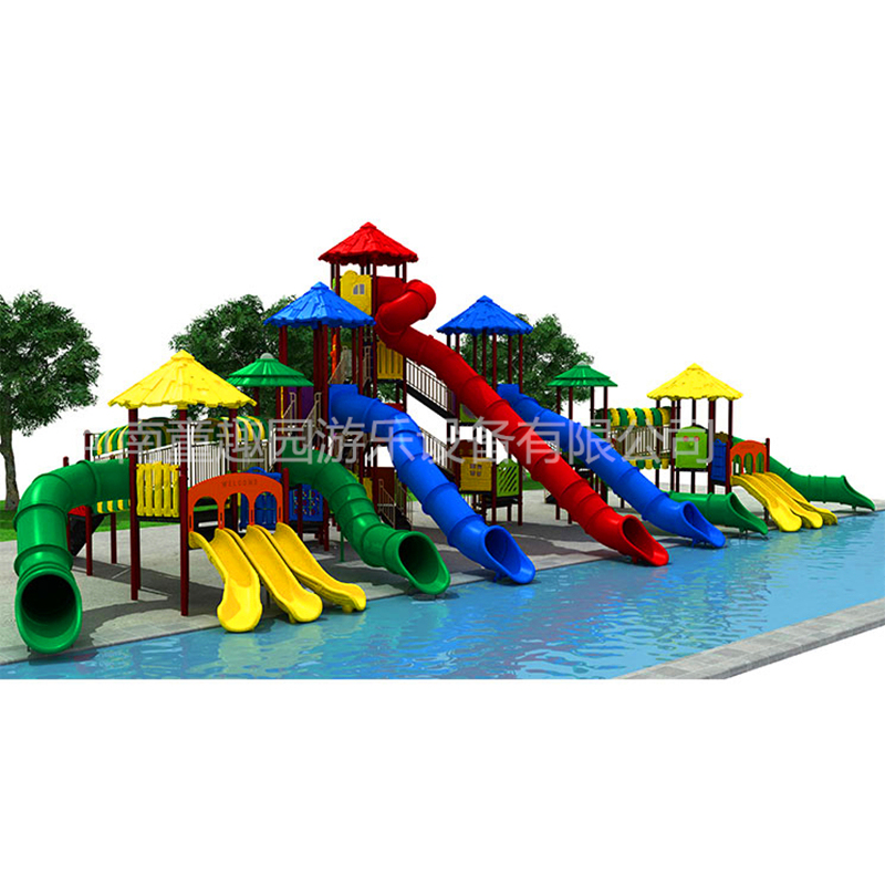 Cheap price used outdoor playground big kids amusement playland slide equipment playground equipment for parks