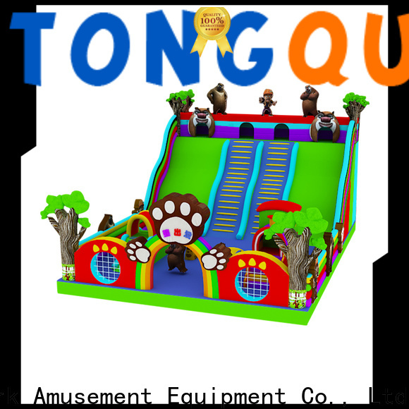 Tongtoy giant inflatable slide reputable manufacturer for amusement park