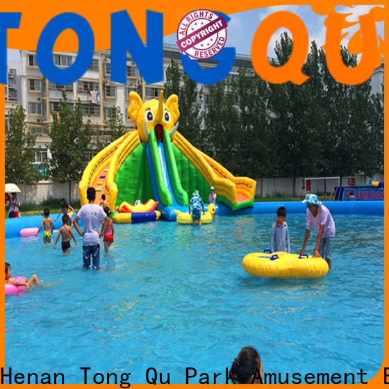 Tongtoy portable inflatable water slides reputable manufacturer for swimming pool