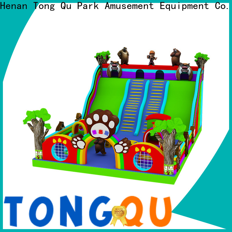 Tongtoy commercial castle bounce house with slide reputable manufacturer for amusement park