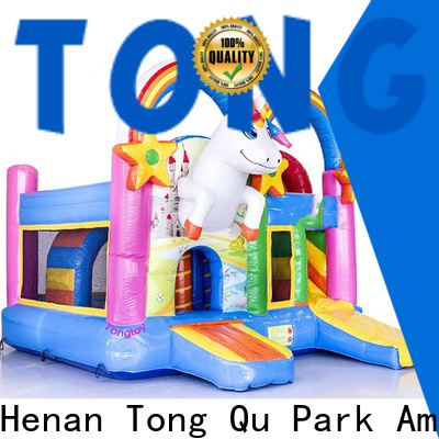Tongtoy castle bounce house with slide supplier for outdoor