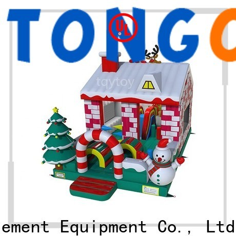 Tongtoy crayon bounce house with slide supplier for outdoor