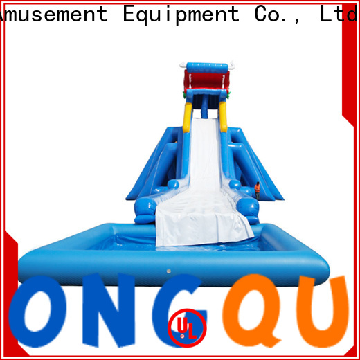 Tongtoy big inflatable water slides for rent reputable manufacturer for swimming pool