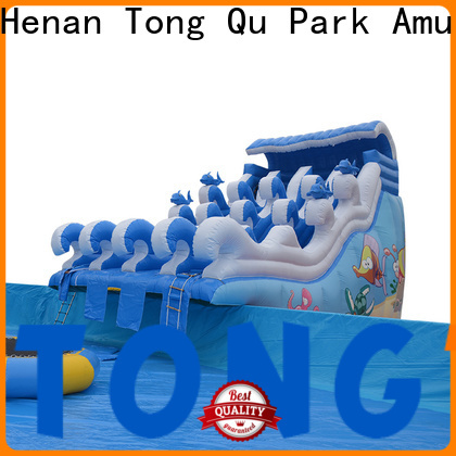 High-quality blue inflatable water slide company for water park