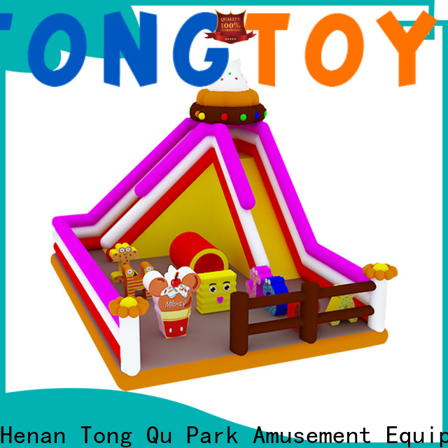 Tongtoy Best backyard inflatable slide factory price for amusement park