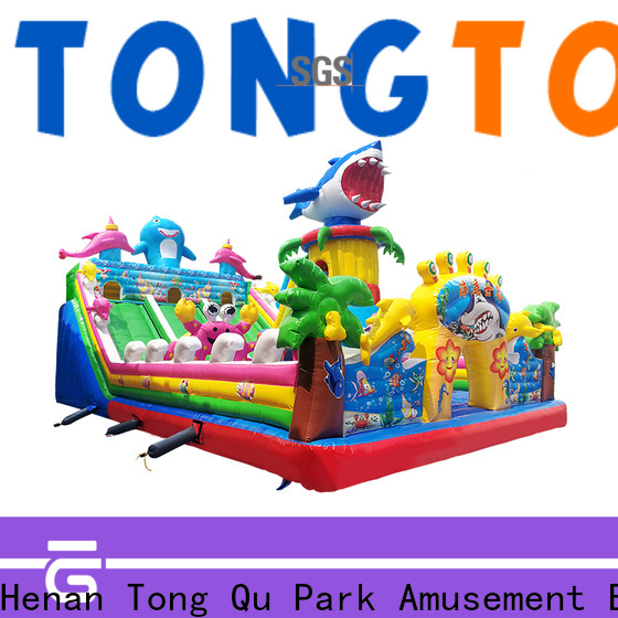 Tongtoy colorful bouncy water slide wholesale for outdoor