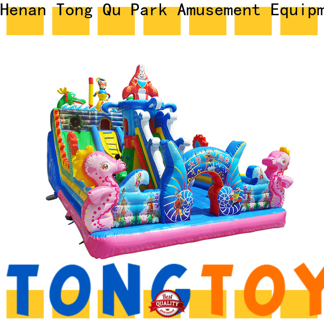Tongtoy Heat resistant bounce house slide combo inquire now for adult