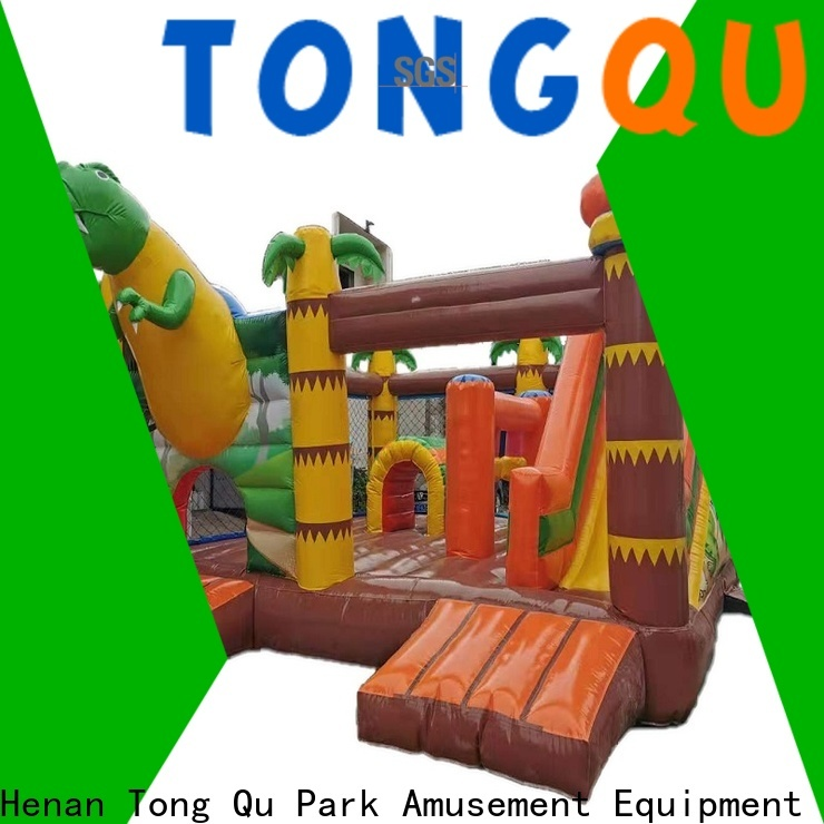 Heat resistant bounce house with slide and basketball hoop wholesale for kids