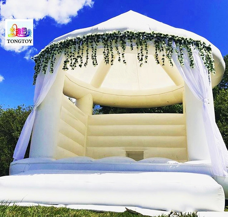 High quality inflatable white weeding tent Jumping Bouncy Castle tent bouncer inflatable wedding tent