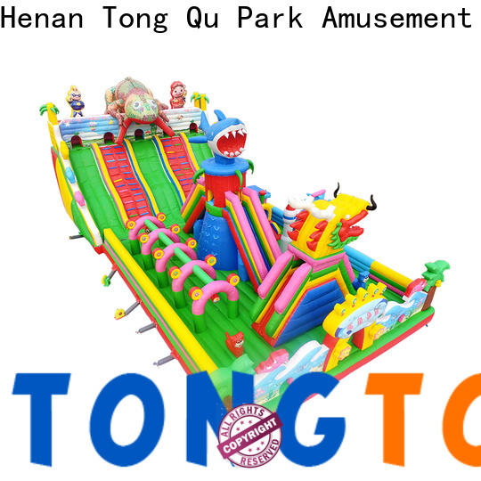 Tongtoy colorful misty kingdom bounce house supplier for kids
