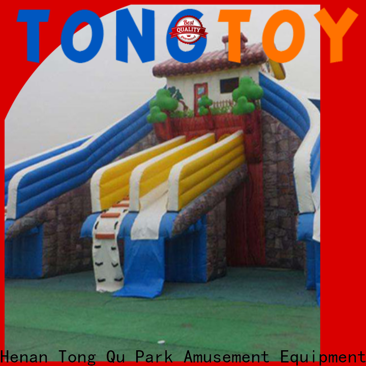 Tongtoy inflatable water jumping castles factory price for swimming pool