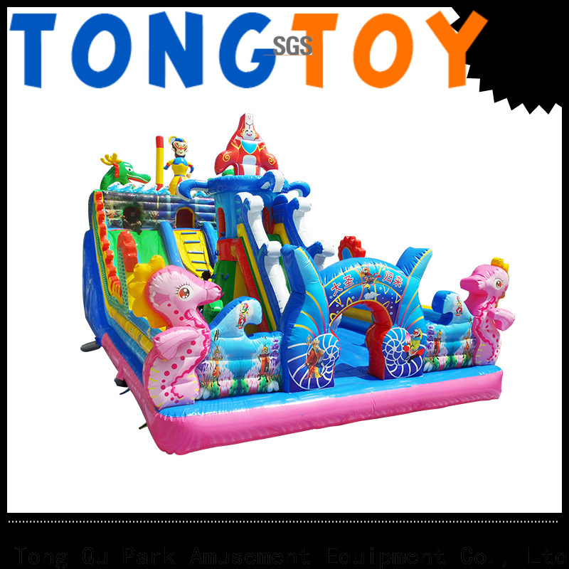 Tongtoy blow up bounce house for sale wholesale for outdoor