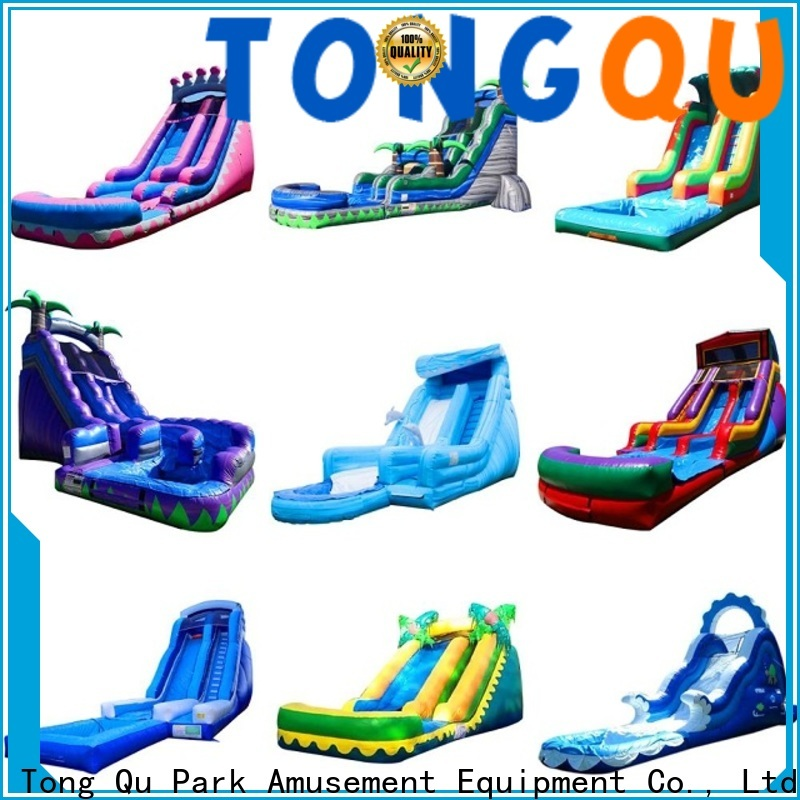 Tongtoy Latest inflatable bounce house with slide factory price for indoor